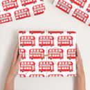 Personalised London Bus Wrapping Paper