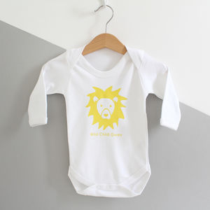 Wild Child, Personalised Baby Grow