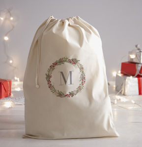 Personalised Initial Santa Sack - summer sale