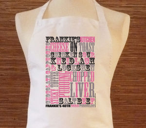 Personalised Apron Create Your Own. We Design It - aprons