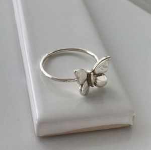 Butterfly Ring In Sterling Silver - women's jewellery