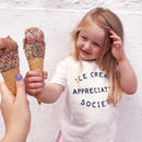 'Ice Cream Appreciation Society' Kid's T Shirt