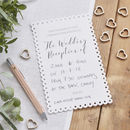 White Scalloped Edge Wedding Evening Invitations