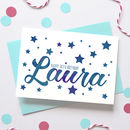 Personalised Birthday Stars Name Card