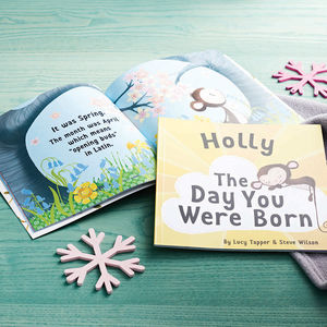 'The Day You Were Born' Personalised New Baby Book - gifts for children