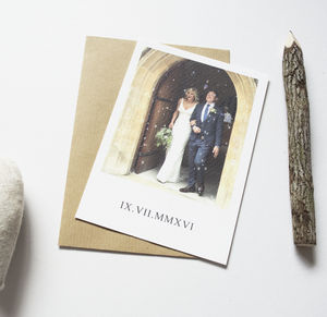 Personalised Single Photo Wedding Thank You Postcards - wedding cards & wrap