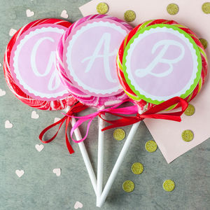Personalised Monogram Alcoholic Lollipop