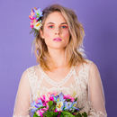Maurelle Peony Daisy And Berry Headpiece And Corsage