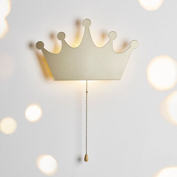 Gold Crown Wall Light