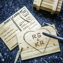 Personalised Wooden Heart Postcard