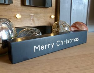 Merry Christmas Slate Plaque