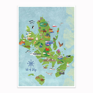 Isle Of Skye Illustrated Map