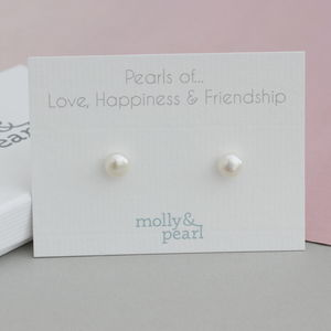 Pearls Of Love, Happiness And Friendship Earrings - earrings