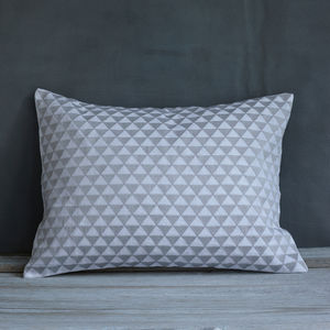 Copenhagen Grey On White Cushion - cushions