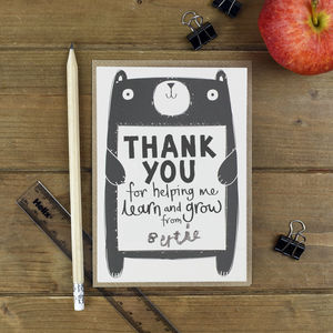 Thank You Teacher Card