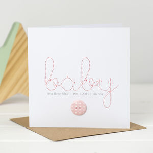 Baby Button New Baby Card