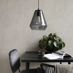 Smoke Grey Glass Pendant Light - ceiling lights