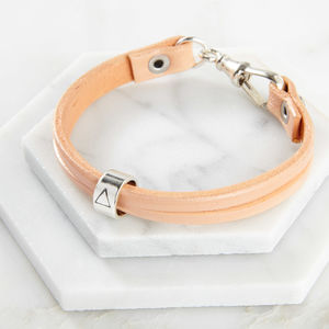 Womens Leather 'Elements' Bracelet