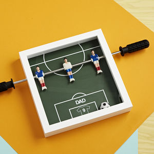 Personalised Table Football Art - mixed media pictures for children