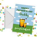 Father's Day Daddy Half Pint Card A5