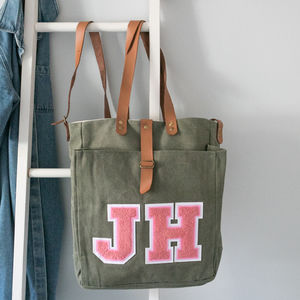 Personalised Khaki Tote Bag - womens