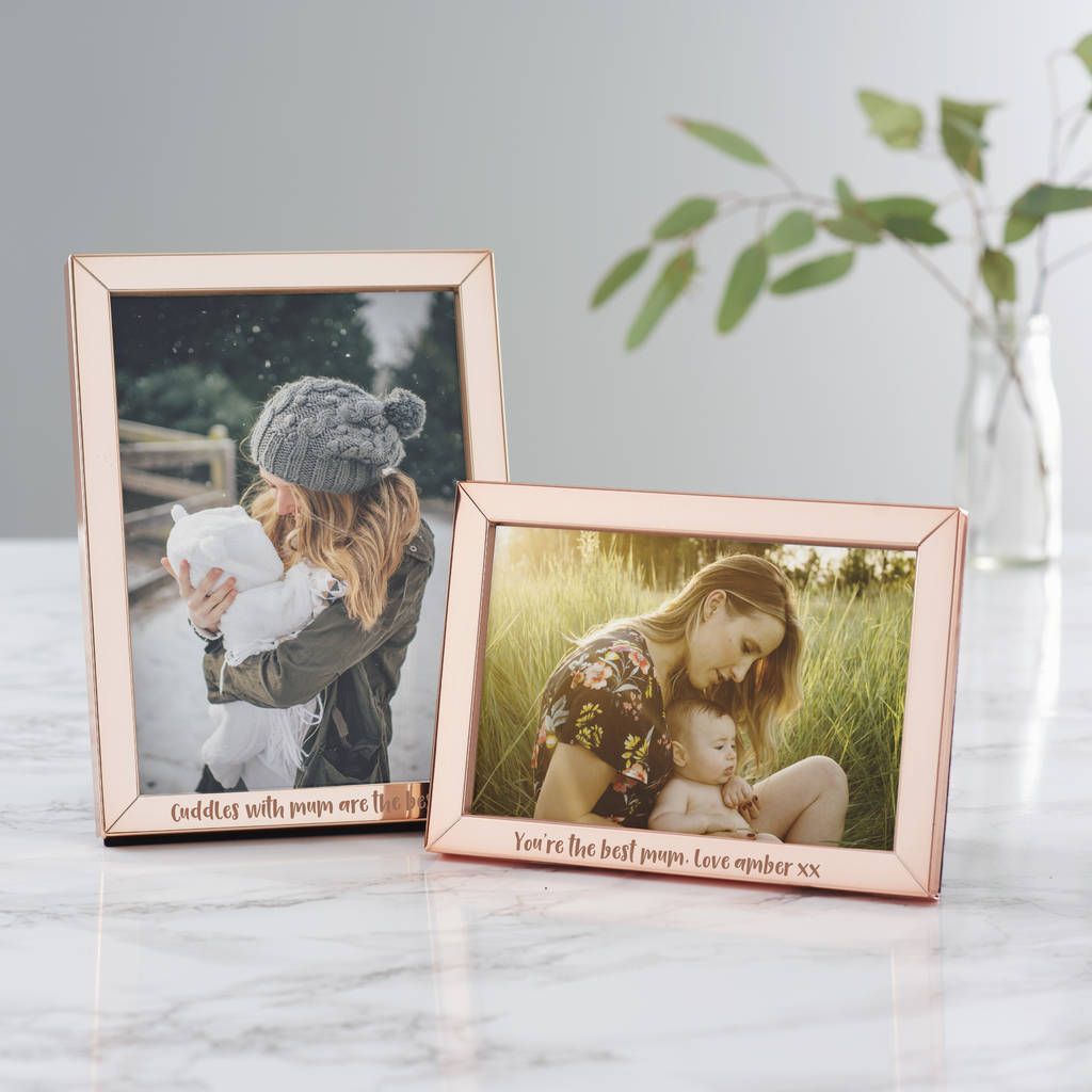 personalised mothers day rose gold frame - Mother Picture Frame