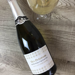 Personalised Prosecco For Teacher - champagne & prosecco