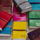 Personalised Fair Trade Leather Journals Three String