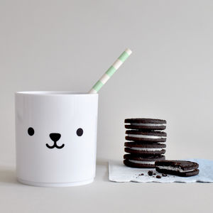 Bear – Tumbler White Edition - children's tableware