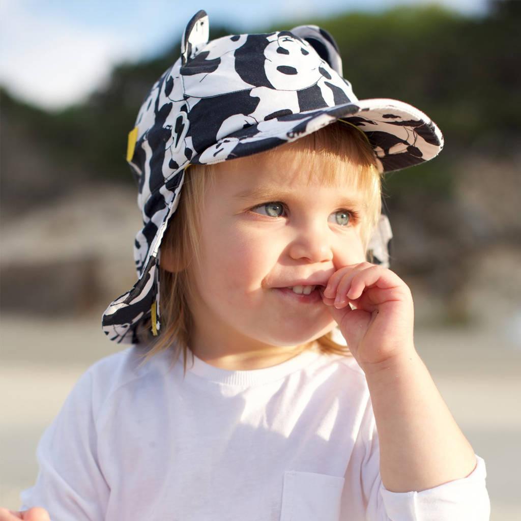 Child Wearing Little Hotdog Watson Cub Kids Sun Hat in Print Panda Pop a62b1aef8bc