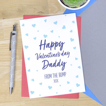 Personalised From The Bump Valentine's Card