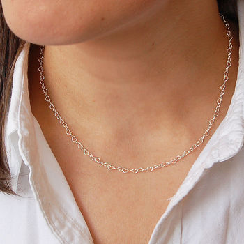 Delicate Sterling Silver Love Heart Chain