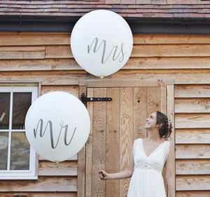 White Mr And Mrs Giant Wedding Balloons Decoration