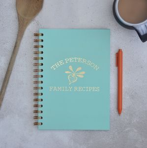 Personalised Family Recipes A5 Cookbook Journal