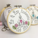 Personalised Embroidered Mr And Mrs Wedding Card