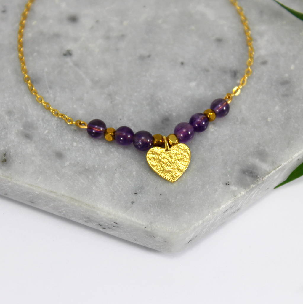 Children's 24ct Gold Heart Charm Bracelet