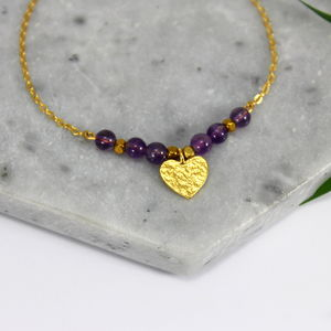Children's 24ct Gold Heart Charm Bracelet - children's jewellery