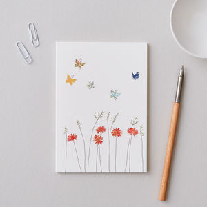 Small A6 Daisies And Butterflies Notebook - whats new