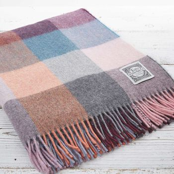 Luxury Alpaca Mix Throw Dusky Multi Check