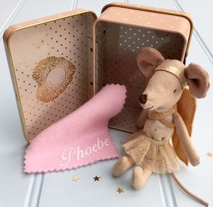 Personalised Guardian Angel Mouse - soft toys & dolls