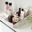 White Marble Make Up Organiser Tray