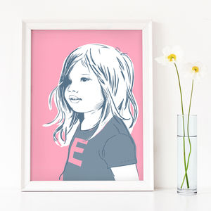 Contemporary Custom Childrens Portrait - pictures & prints for children
