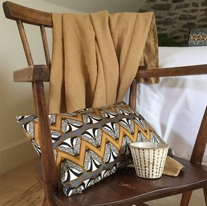 Deco Badger Chevron Patterned Cushion