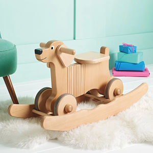 Wooden Rocking And Ride On Dog Toy - rocking toys
