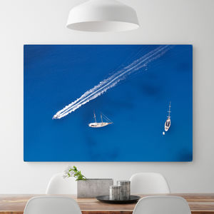 Morning On The Harbour, Canvas Art - nature & landscape