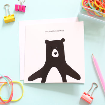 Sending Bear Hugs, Card
