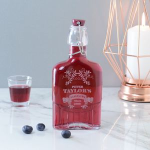 Sloe Gin Engraved Personalised Bottle