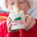 Personalised Santa Van Kids Christmas Mug
