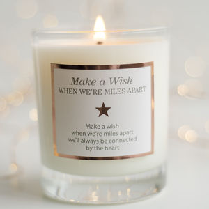 'Make A Wish When We're Miles Apart' Candle