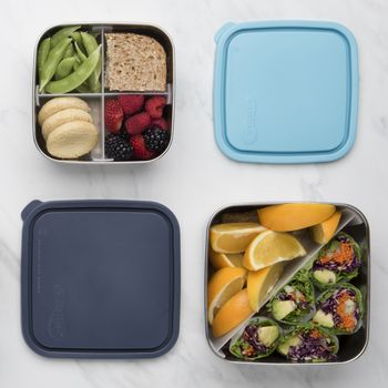 Divided Square Stainless Steel Containers